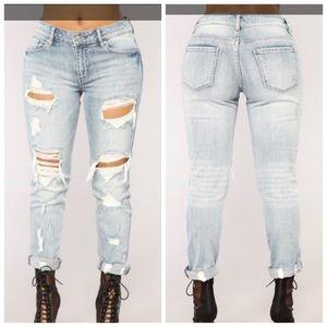 Fashion Nova Jeans - Fashion Nova Love you to Pieces Ripped Jeans